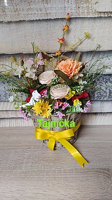 Dekorácie - Košík plný kvetov ❤️ - 13003311_