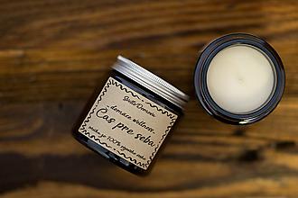 Svietidlá a sviečky - Sviečka zo sójového vosku v hnedom skle - Čas pre seba - 13001976_