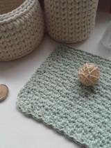 Úžitkový textil - Žinka z morských rias svetlá mäta - 12999861_