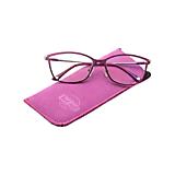 Iné doplnky - Vsuvkové puzdro na okuliare z brúsenej kože cyklamenové - 13000931_