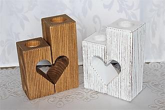Dekorácie - masívne stojany na čajové sviečky - 13003677_