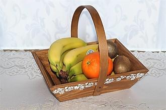 Nádoby - masívny košík na ovocie - 13003700_
