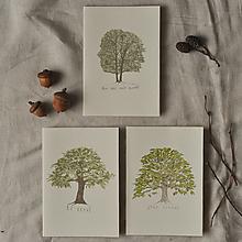 Papiernictvo - pohľadnice - listnatý set 3ks - 13001417_