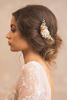 """Ozdoby do vlasov - Kvetinový hrebienok """"na tebe záleží"""" - 13003324_"""