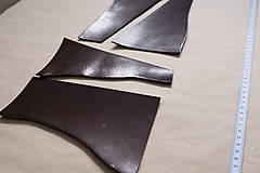 Suroviny - Zbytková hladenica väzy tmavohnedá lesklá 2–2,5 mm - 13002837_