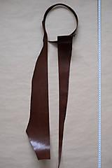 Suroviny - Zbytková hladenica väzy tmavohnedá lesklá 2–2,5 mm - 13002881_