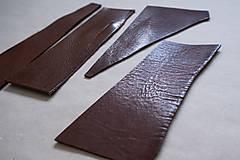 Suroviny - Zbytková hladenica väzy tmavohnedá lesklá 2–2,5 mm - 13002884_
