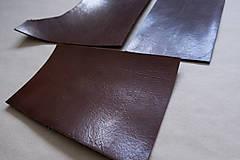 Suroviny - Zbytková hladenica väzy tmavohnedá lesklá 2–2,5 mm - 13002888_