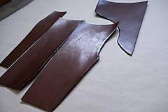Suroviny - Zbytková hladenica väzy tmavohnedá lesklá 2–2,5 mm - 13002893_
