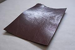 Suroviny - Zbytková hladenica väzy tmavohnedá lesklá 2–2,5 mm - 13002897_
