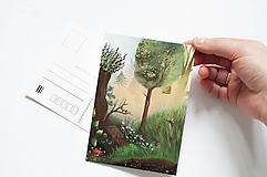 """Papier - Pohľadnica """"v lese"""" - 13004025_"""