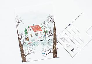 "Papier - Pohľadnica ""zima"" - 13003786_"