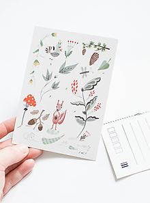 """Papier - Pohľadnica """"veverička"""" - 13003827_"""