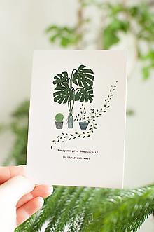 """Papier - Pohľadnica """"everyone grow beautifully"""" - 13004003_"""