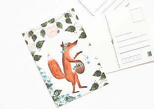 """Papier - Pohľadnica """"foxie lady"""" - 13004064_"""