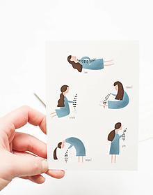 """Papier - Pohľadnica """"joga"""" - 13004087_"""