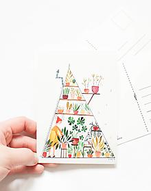 """Papier - Pohľadnica """"skleník Δ"""" - 13004117_"""