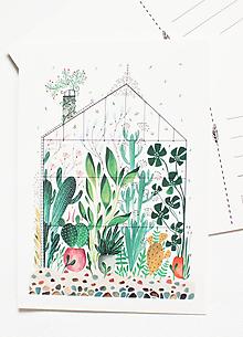 """Papier - Pohľadnica """"skleník"""" - 13004130_"""