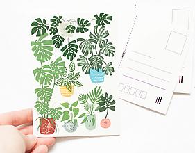 """Papier - Pohľadnica """"plantlover"""" - 13004155_"""