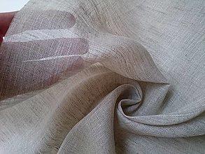 Textil - Ľanová záclonovina 90g (ako materiál alebo šitie na želanie) - 13001642_