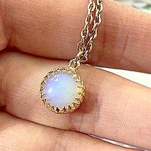 Náhrdelníky - ZĽAVA 55% Vintage Filigree Opalite Rose Gold Pendant / Prívesok s opalitom - 13006866_