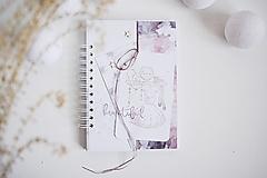 Papiernictvo - Dievčenský zápisník - pre baletku A5 - 13006971_