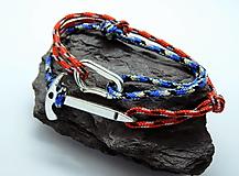 Náramky - Lezecký náramok - cepín+karabínka - 13005487_