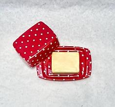 Nádoby - Červená hranatá maselnička - 13007605_