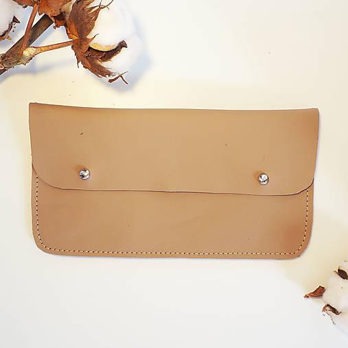 Peňaženky - Kožená peněženka okrová - 13005910_