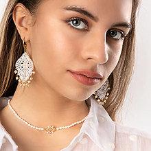 Náhrdelníky - perlový choker / náramok - 13006647_