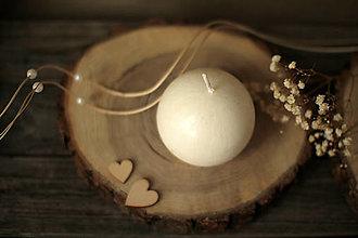 Svietidlá a sviečky - Sviečka zo 100% palmového vosku GUĽA (biela) - 13005835_