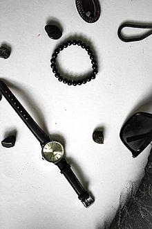 Náramky - Maličké čierne perličky - 13005873_