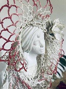 Socha - Socha - Dáma s ružami - 13008110_