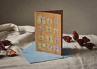 Papiernictvo - Pohľadnica - hortenzia - 13009695_