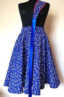 """Sukne - Kruhová sukňa """"Modrotlač"""" s opaskom - 13007490_"""