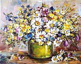 Obrazy - Kytica lúčnych kvetov - 13009043_