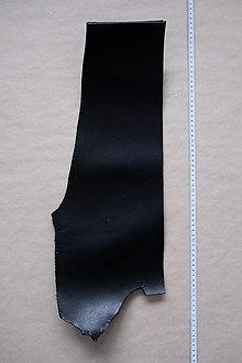 Suroviny - Zbytková hladenica čierna 4mm (kus č. 5) - 13009016_