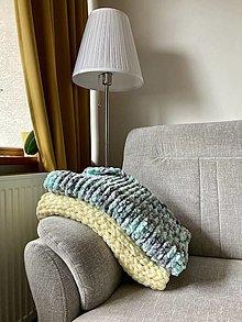 Textil - ručne pletená detská dečka - zimná deka pre bábätko - 13009666_