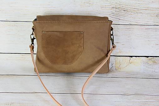 Modrotlačová kožená kabelka Táňa