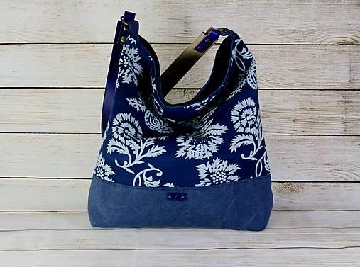 Modrotlačová kabelka Vanda modrá