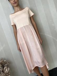 Šaty - Šaty s lodičkovým výstrihom -marhuľkové - 13005949_