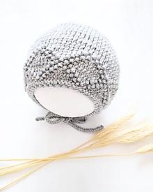 Detské čiapky - Šedý čepček - 100% merino - 13006009_
