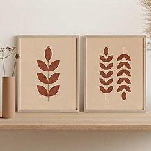 Grafika - Set 2 printov s botanickým motívom - 13007603_