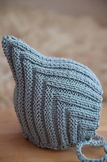 Detské čiapky - Pletená čiapka Retro NOVORODENECKÁ (Oceľová, Baby nature katia) - 13013100_