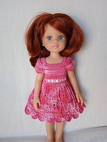 Hračky - Háčkované šaty pre bábiku - 13014052_
