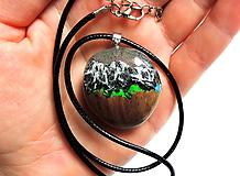 Náhrdelníky - Živicový náhrdelník - Hory 3 - 13010709_