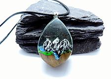 Náhrdelníky - Živicový náhrdelník - Hory 4 - 13010720_