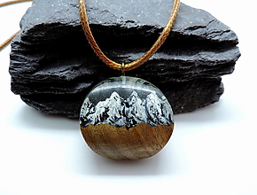 Náhrdelníky - Živicový náhrdelník - Hory 2 - 13010671_