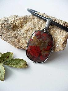 Náhrdelníky - Amulet - Jaspis brekcia - 13011757_