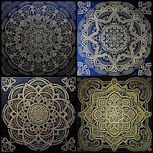 Obrazy - MANDALA BOHATSTVA a HOJNOSTI všetkého-energetický feng shui obraz,talizman - 13012261_